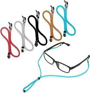 Eyeglass Anti-lost Rope, ELECDON 5 Pcs Premium Eyeglass Straps, Anti-slip Eyeglass Chains Lanyard, Adjustable Eyewear Reta...