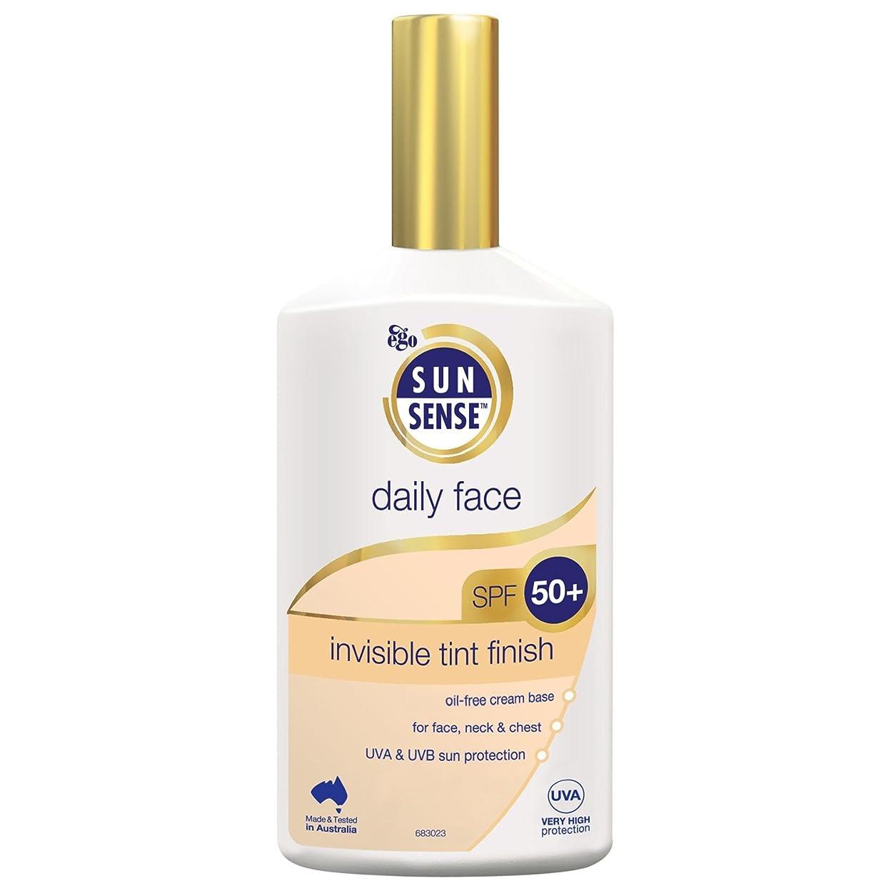 規制する飾るフラフープSunsense毎日顔は見えない色合い仕上げSpf 50+日焼け止め200ミリリットル (Sunsense) (x6) - Sunsense Daily Face Invisible Tint Finish SPF 50+ Sunscreen 200ml (Pack of 6) [並行輸入品]