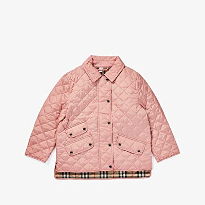 Burberry Kids Brennan Coat (Little Kids/Big Kids) (Dusty Pink) Girl