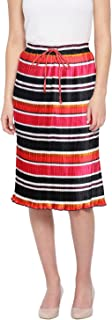 oxolloxo Women's Striped Skirt (Red)
