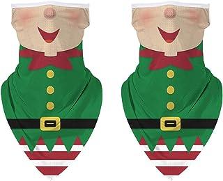 DUOLIFU Christmas Santa Claus Face Mask UV Protection Neck Gaiter Scarf Sunscreen Breathable Bandana