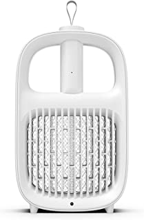 Multifunction Electric Fly Swatter USB Electric Mosquito Swatter Intelligent Light Control, IPX4 Waterproof, 365Nm Purple ...
