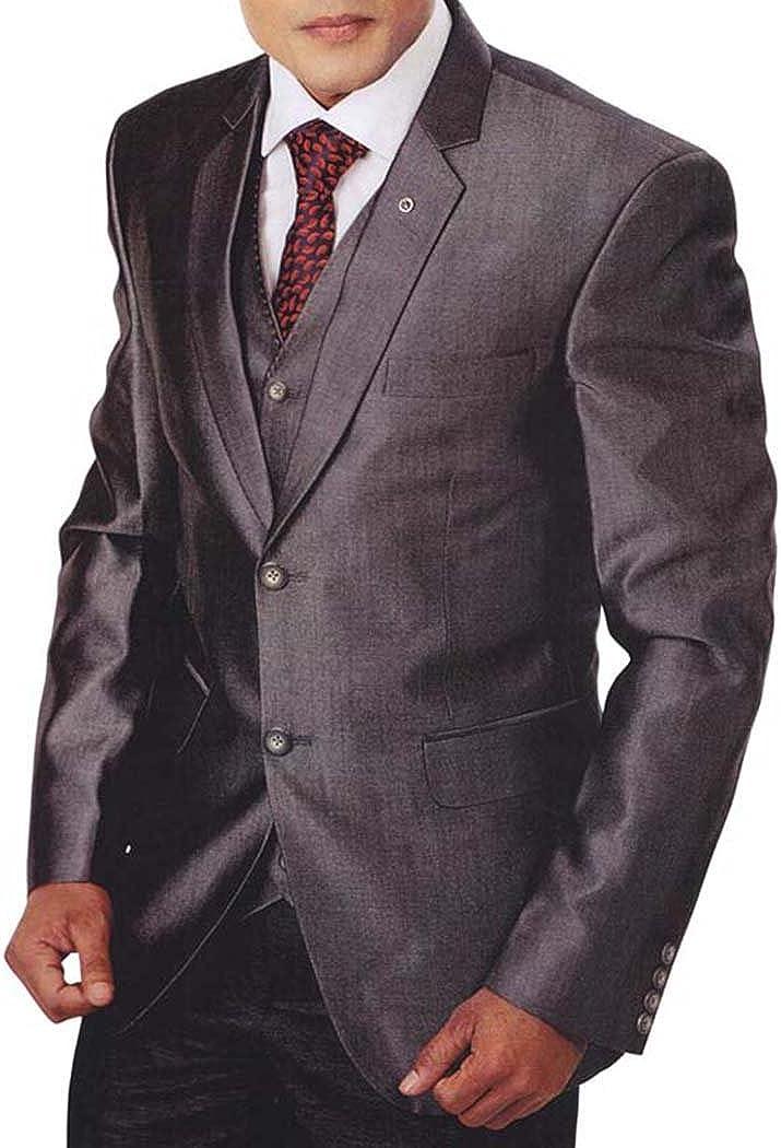 INMONARCH Mens Gray Tuxedo Suit 5 Pc Notch Lapel TX955
