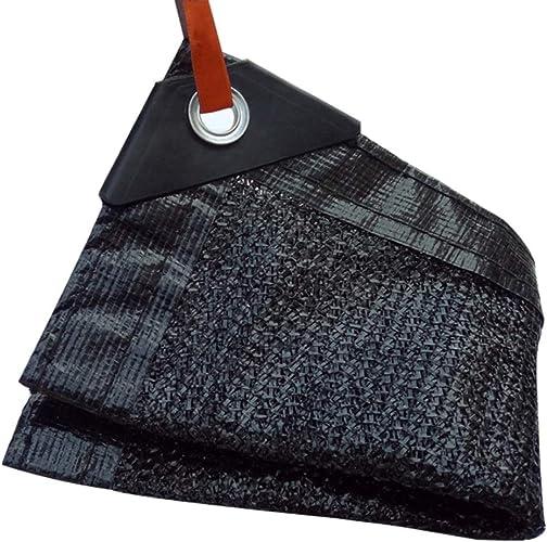 BJL Baches Filet D'ombrage Noir épaissi Cryptage, Filet Solaire De Toit De Jardin 8 Aiguilles ++ (Taille   8x10m)