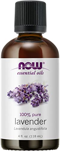 NOW Essential Oils, Lavender Oil, Soothing Aromatherapy Scent, Steam Distilled, 100% Pure, Vegan, Child Resistant Cap...