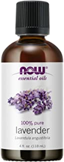 NOW Essential Oils, Lavender Oil, Soothing Aromatherapy Scent, Steam Distilled, 100% Pure, Vegan, Child Resistant Cap, 4-O...