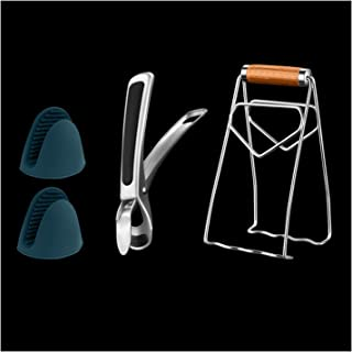 طقم السلامة من 4 قطع من 4 قطع، بما في ذلك عاء الفولاذ المقاوم للصدأ/صحن/لوحة المشبك (Color : B)