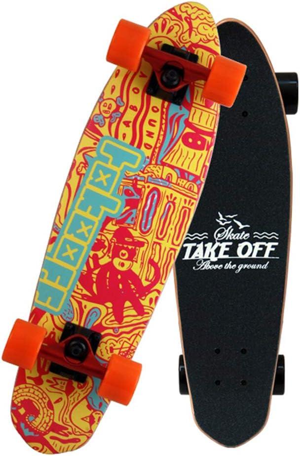HYE-SPORT Skateboard Patinetas est/ándar Patineta Pro Cruiser Trucos de Skateboard Maple Deck Adecuado para Freeride al Aire Libre Desplazamientos Crucero Recreaci/ón al Aire Libre para J/óvenes Los a
