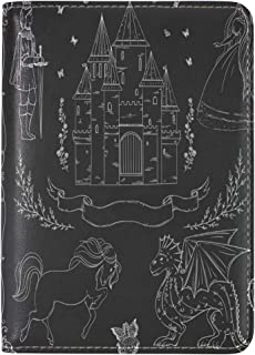 Prince And Princess Leather Travel Passport Holder Cover Case Card Wallet Elastic Band