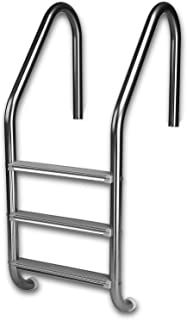 Inter-Fab L3E049S 3 Economy Sure-Step Swimming Pool Ladder, Stainless Steel Treads
