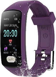 ZEERKEER Fitness Tracker, Bluetooth Smart Bracelet ECG PPG P