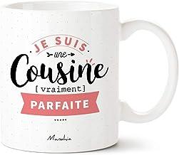 Sac Bandouli/ère Blanc Tampon Elue Cousine de lann/ée YONACREA