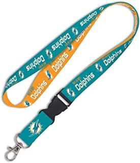 NFL Miami Dolphins Lanyard with Detachable Buckle, 1-Inch