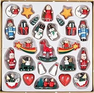 Holzhänger Weihnachten 27tlg. – Weihnachtsanhänger Holz