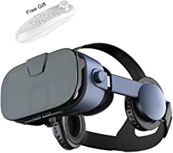 Virtual Reality Headset, 2019 VR Glasses w/ 3D Headphones &Remote(Gift), 3D IMAX Movie/Game Viewer for iPhone 11 Pro XS Max XR X 8 7 6 S Plus Samsung Galaxy Note 10 9 8 S10 e S9 S8 S7 S6 Edge etc