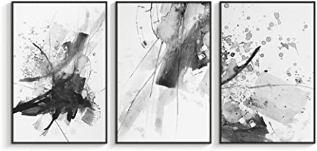 NWT Framed Canvas Wall Art for Living Room, Bedroom Abstract Ink Painting Canvas Prints for Home Decoration Ready to Hanging - 16