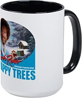 CafePress Large Happy Trees Mug Mugs Coffee Mug, Large 15 oz. White Coffee Cup