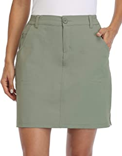 Willit Women's Outdoor Skort Golf Skort Casual Skort Skirt UPF 50+ Quick Dry Zip Pockets Active Hiking