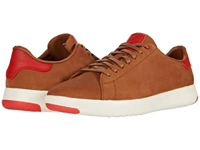 Cole Haan GrandPro Tennis Sneaker (New Tan Nubuck/Flame Scarlet) Men