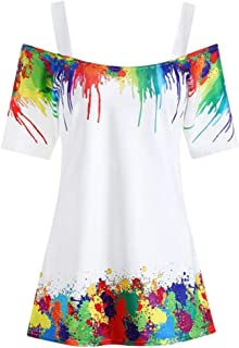 DADKA Shirts for Women Plus Size Sexy Embellished Halter Neck Vest Sling Blouse Lace Tank Sling Tops
