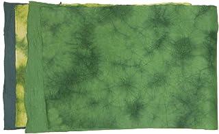 アワガミファクトリー 揉み染め紙 ちょっとお得な紙 COPS-MO-GR 緑系 4枚
