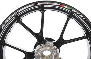 IMPRESSIATA Ducati Monster 1200 Motorrad Felgenrandaufkleber SpecialGP Weiß Komplettset Aufkleber Sticker