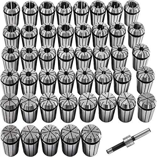 VEVOR Collet Set ER32 Collet Chuck, 45 PCs Workholding Collets, 2-20 mm 1/16-25/32', ER Collet Set, w/ 0.0005' Run-Out Tolerance, Mill Collets, Spring Steel Collet Chuck, for CNC Engraving Machine