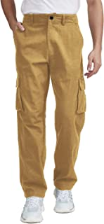 Mens Classic Work Multiple Pockets Twill Cargo Pants