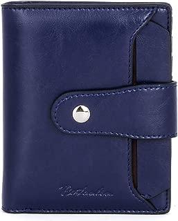 Women Leather Wallet RFID Blocking Small Bifold Zipper Pocket Wallet Card Case Purse with ID Window