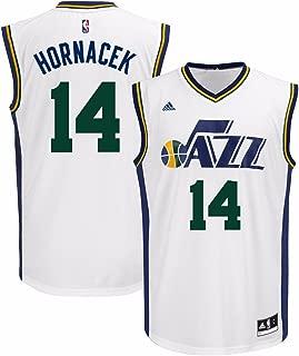 adidas Jeff Hornacek Utah Jazz NBA Men's White Official Home Replica Jersey