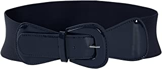 MUXXN Women's Belts Solid Color Wide Elastic Stretchy Retro Cinch Belt