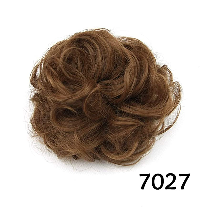 汚い剥離君主JIANFU かわいい髪は女性のためのロープのバンの甘いフラワーボールの頭髪を引っ張る高温のシルクの髪 (Color : Color 7027)