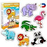 MAGDUM 6 Animales Zoo magn├йtica beb├й Puzzles para ni├▒os-imanes de Nevera Grandes-Juguetes educativos para ni├▒os de 3 a├▒os-imanes magn├йticos para Aprender y desarrollar-Teatro Magn├йtico