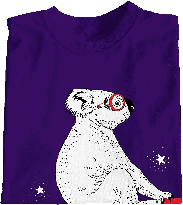 1Tee Girls Koala on Rocket Ship to The Moon and Back T-Shirt