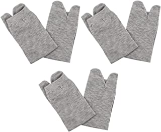 Hellery, Hellery 3 Pares de Calcetines Elásticos con 2 Dedos Del Pie - Calcetines con Tachuelas Japoneses Tabi Toe para Hombres Y Mujeres - gris
