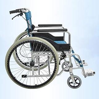 Ligera Silla de Ruedas Plegable para Personas Mayores, Conducción Médica, Aleación de Aluminio Grueso
