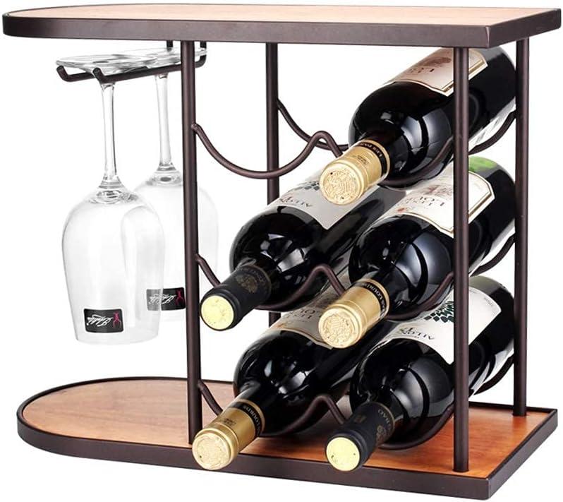 LSNLNN Sale SALE% OFF Wine Racks Countertop Fre Max 58% OFF Tabletop Holder Rack