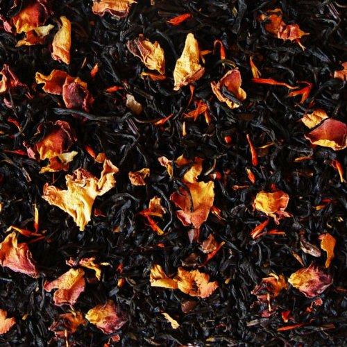 Schwarzer Tee lose Sylter Schokoladenmädchen Traum Rosenblüten, Saflorblüten, Kakaoschalen Schwarztee zarte Schokolade 100g