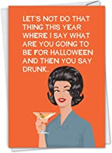 NobleWorks - Do That Thing - Women's Funny Halloween Greeting Card with Envelope C3037HWG