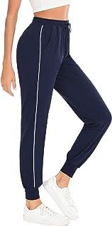 Taille haute icyzone Pantalon de sport long pour femme avec poches lat/érales