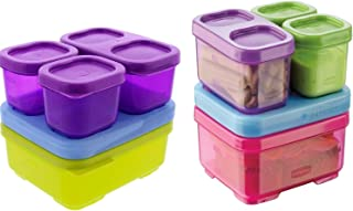 RUBBERMAID Lunch Blox, BPA-Free Plastic Container, Sandwich Kit- colors may vary