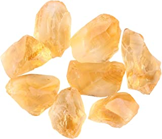 Jaguar Gems 50+ cts Raw Citrine Stone, A Grade Rough Crystals, DIY-Jewelry Making Supplies, Chakra Healing Loose Crystals, Natural Gemstones, Handpicked Solar Plexus and Navel Stone, Christmas Special