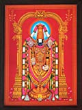 Handicraft Store Lord Venkateswara Known As Balaji and Incarnation of Vishnu, a Religious Poster Painting for Home/Office for Good Luck