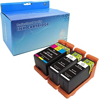 LiC-Store Compatible Ink Cartridge Replacement for Dell 21 22 23 24 Printer Ink Cartridge for use in Dell All-in-One Printers P513w P713w V313 V313w V515w V715w 3PK(2Black 1Color)