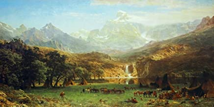 Posterazzi Collection The The Rocky Mountains Landers Peak Poster Print by Albert Bierstadt (20 x 10)