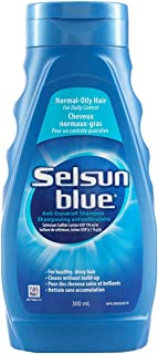 Selsun Blue Normal-Oily Hair Anti-Dandruff Shampoo, 300 mL, Helps Control Dandruff, Itching and Flaking