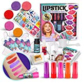Real Lip Stick Making Kit for Kids, FunKidz Create Your Own Lip Gloss Cosmetic Science Experiment Kit Nice Gift for Birthday Party Activity Makeup Kit for Girls Ages 6 and Up
