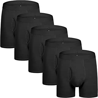 Men's Underwear Boxer Briefs Cotton Regular Long Mens Boxer Briefs Underwear Men Pack S M L XL XXL