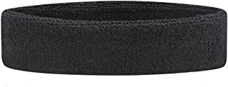 TRIXES Black Sports Sweatband Headband