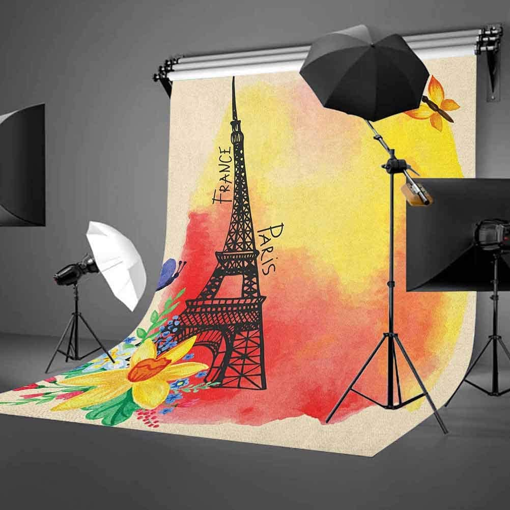 8x12 FT Colorful Vinyl Photography Backdrop,Abstract Watercolor Style Pattern with Squares and Lines Tribal Art Inspirations Background for Baby Birthday Party Wedding Graduation Home Decoration